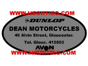 Dean Motorcycles Gloucester Dealer Decals Transfers DDQ11